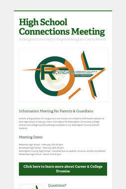 High School Connections Meeting