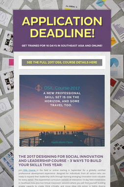 Application Deadline!