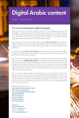 Digital Arabic content