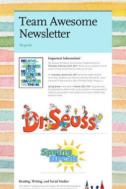 Team Awesome Newsletter