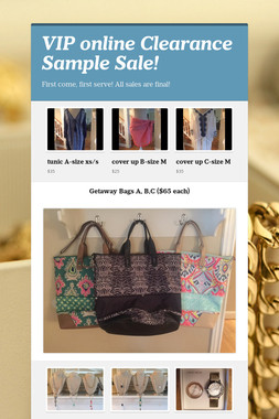 VIP online Clearance Sample Sale!