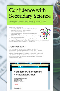 Confidence with Secondary Science