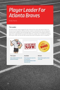 Player Leader For Atlanta Braves