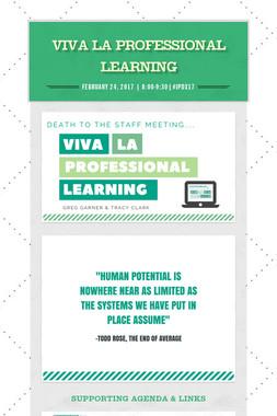Viva la Professional Learning
