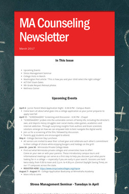 MA Counseling Newsletter