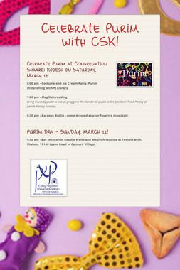 Celebrate Purim with CSK!
