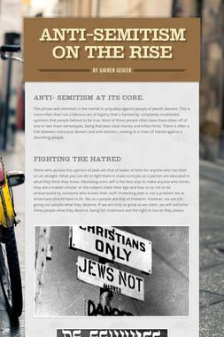 Anti-Semitism on the Rise