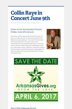 Collin Raye in Concert June 9th