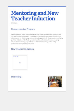Mentoring and New Teacher Induction