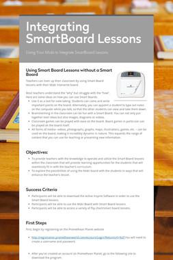 Integrating SmartBoard Lessons