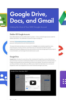 Google Drive, Docs, and Gmail