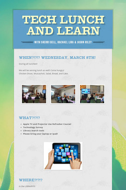 TECH Lunch and Learn