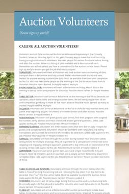 Auction Volunteers