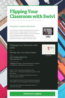 Flipping Your Classroom with Swivl