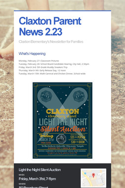 Claxton Parent News 2.23