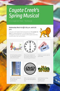 Coyote Creek's Spring Musical