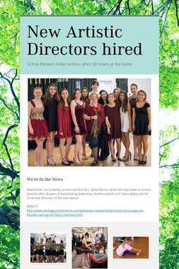 New Artistic Directors hired