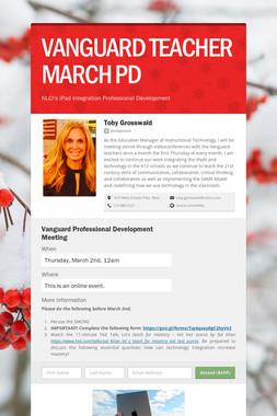 VANGUARD TEACHER MARCH PD