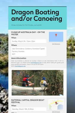 Dragon Boating and/or Canoeing