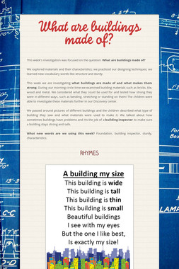 What are buildings made of?