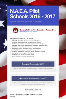 N.A.E.A. Pilot Schools 2016 - 2017
