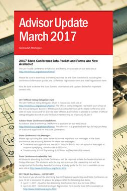 Advisor Update March 2017