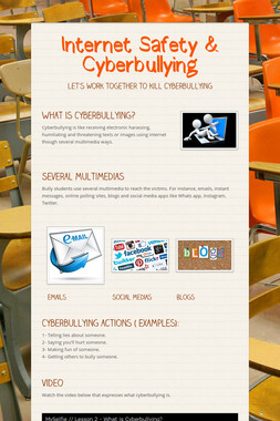 Internet Safety & Cyberbullying