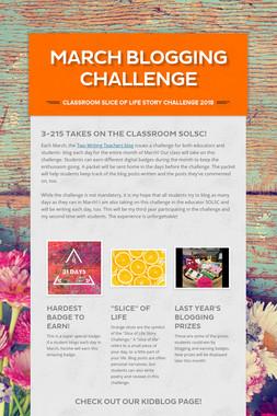 March Blogging Challenge