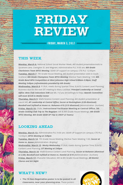 Friday Review