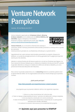 Venture Network Pamplona