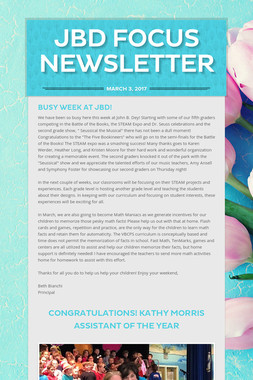 JBD FOCUS NEWSLETTER