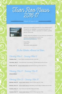Tison Roo News 2016-17