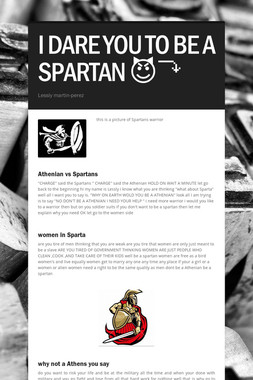 I DARE YOU TO BE A SPARTAN 😈⤵