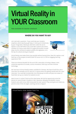 Virtual Reality in YOUR Classroom