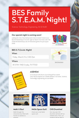 BES Family S.T.E.A.M. Night!