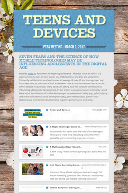 Teens and Devices