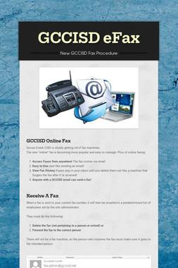 GCCISD eFax