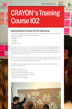CRAYON's Training Course  IO2