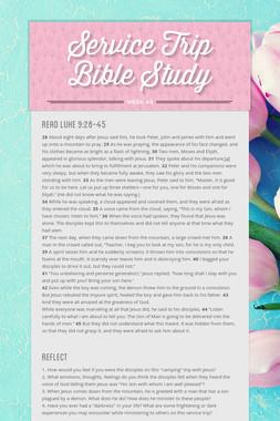 Service Trip Bible Study