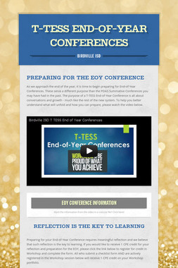 T-TESS End-of-Year Conferences