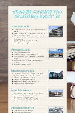 Schools Around the World by Kevin W