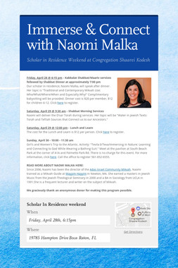 Immerse & Connect with Naomi Malka