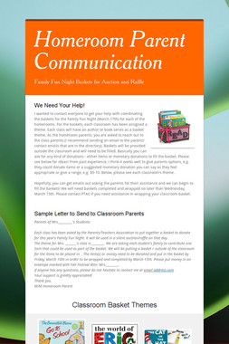 Homeroom Parent Communication