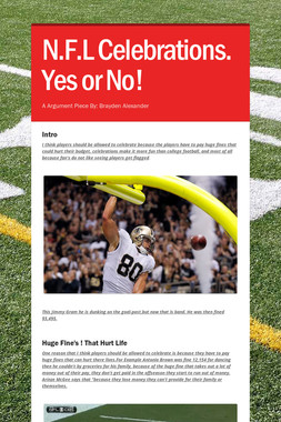 N.F.L Celebrations. Yes or No!