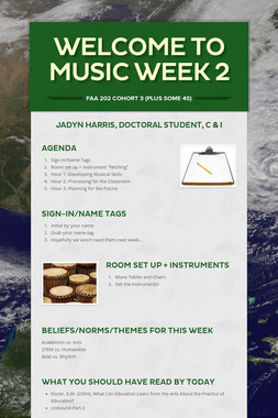 Welcome to Music Week 2