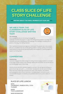 Class Slice of Life Story Challenge