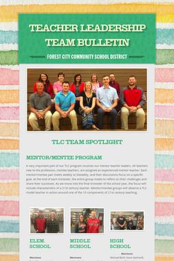 Teacher Leadership Team Bulletin