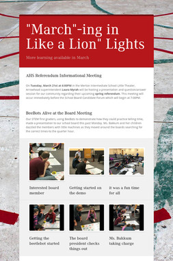 """March""-ing in Like a Lion"" Lights"