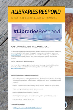 #LIBRARIES RESPOND