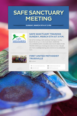 Safe Sanctuary Meeting